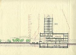 断面図|建築図面ドローイング集|ホテルブエナビスタ