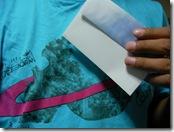 青シャツと手紙